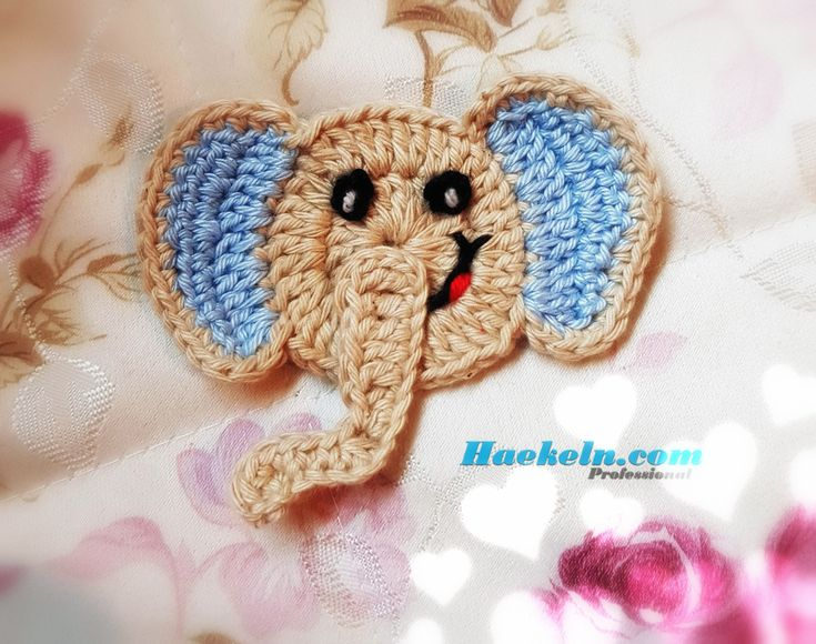 Baby Elefant Applikation Häkelanleitung  #häkeln #häkelanleitung #crochet #babyelefant #elefant #baby #crochetpattern #anleitung