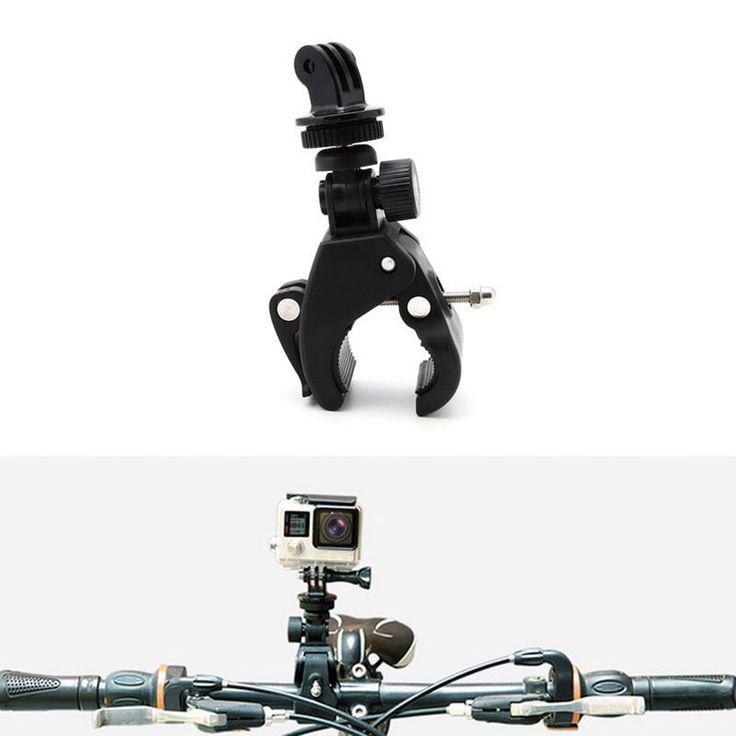 Mayitr Black Motorcycle Bike Camera Handlebar Mount Holder With Tripod Mount Adapter for Gopro Hero Camera. Click visit to buy #tripod