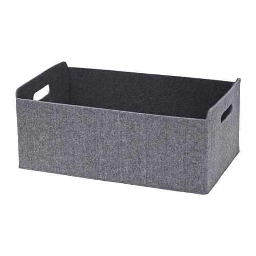 IKEA - BESTÅ, Box, Helps you keep your BESTÅ storage combination organized. Perfect for storing anything, from magazines and remote controls to DVDs, toys, or hobby supplies.Easy to pull out and lift as the box has cut-out handles.Soft felt protects your things and keeps them in place so they don't move when you pull out the box.