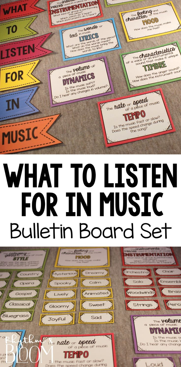 The perfect music word wall - 15 music term posters with over 200 vocabulary cards