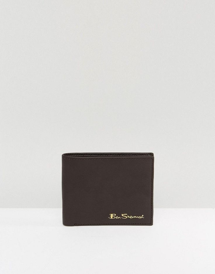 BEN SHERMAN CLASSIC LEATHER WALLET - BROWN. #bensherman #