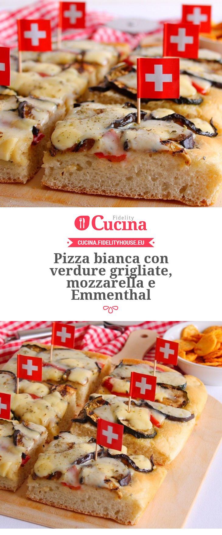 #Pizza bianca con #verdure grigliate, #mozzarella e #Emmenthal della nostra utente Giovanna. Unisciti alla nostra Community ed invia le tue ricette!