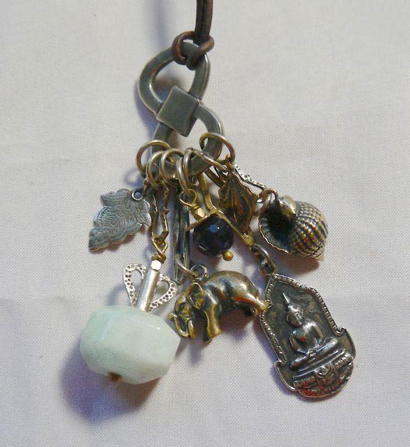 Love Heals Satisfaction Buddha, Elephant & Gemstone Necklace