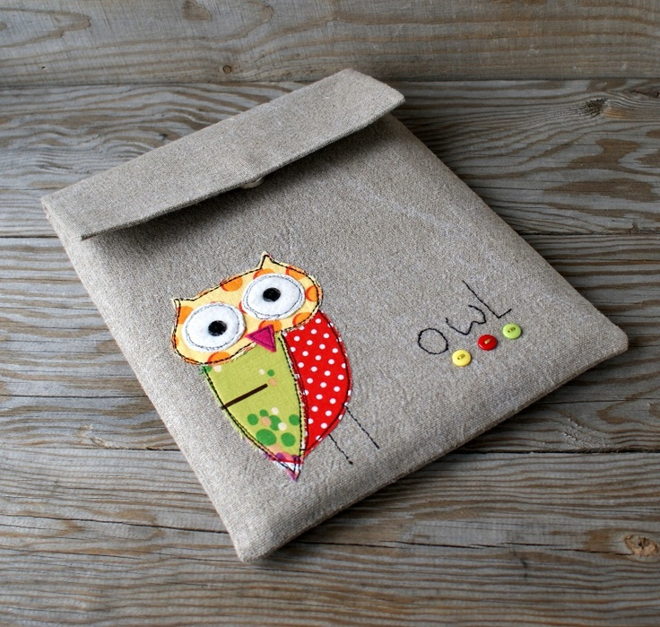 case  case iPad owl applique flax чехол для iPad аппликация сова