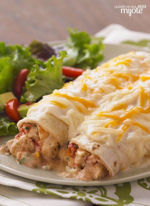 Tortilla au poulet au four #recette