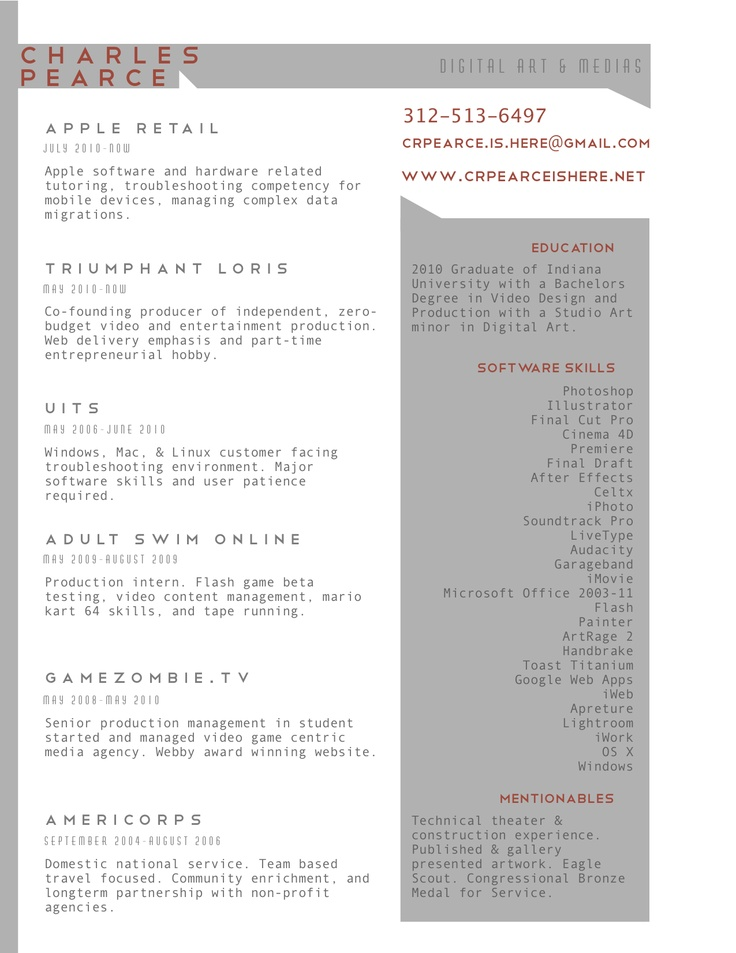 104 best Resumes images on Pinterest Resume design, Creative - description of waitress for resume