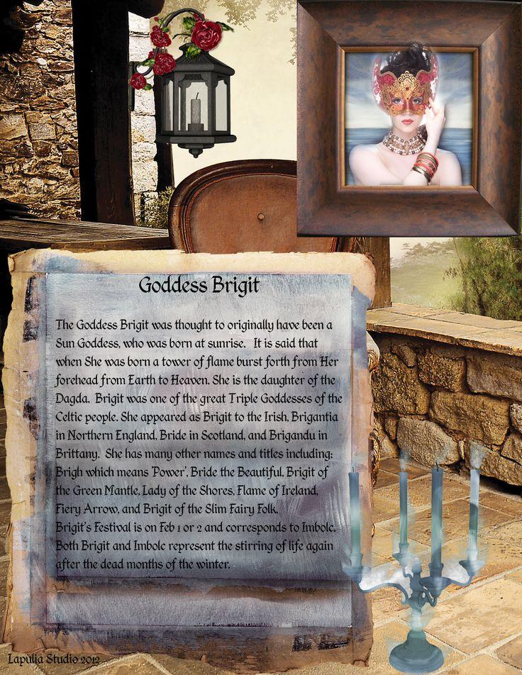 Imbolc:  Goddess Brigit, page 1, for #Imbolc.
