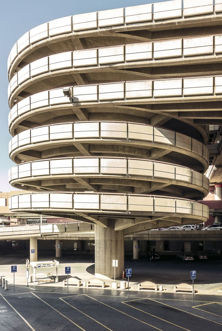 Mccarran Airport Parking Garage Ramp Las Vegas Photo By