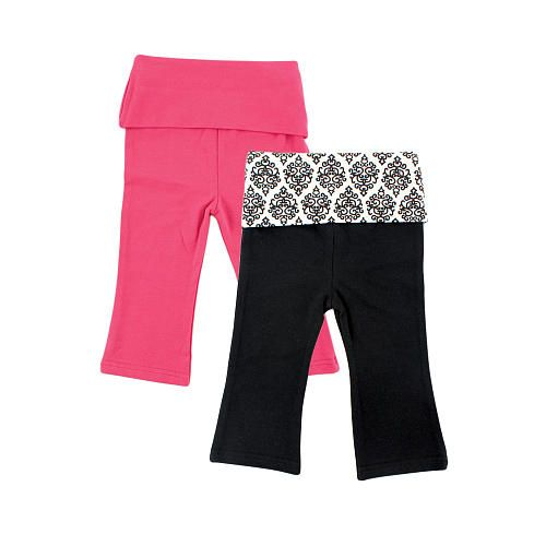 "Yoga Sprout Girls 2 Pack Black/Pink Damask Yoga Pant - Baby Vision - Babies ""R"" Us"