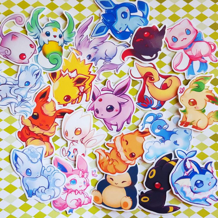 """weishi: """" Pokemon stickers!!!"""