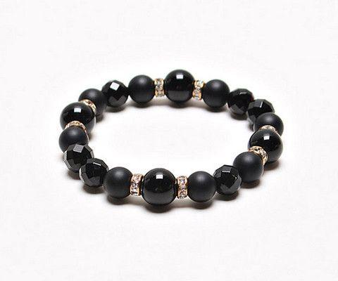 Men's Black Onyx Cut Bracelet – ONESHOP