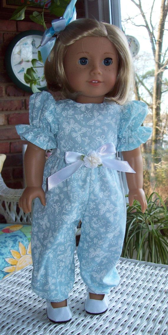 American Girl doll or 18 inch doll  rompers and by ASewSewShop, $14.99