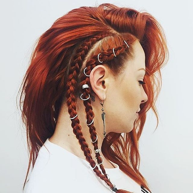 Incredible hair braids featuring Regal Rose hair rings and hair bead clickers.