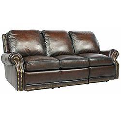 Barcalounger Premier II 3 Seat Sofa Chaps Saddle Leather Sofa