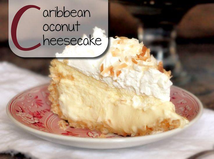 Caribbean Coconut Cheesecake - Deze cheesecake is écht hemels. Het combineert de lekkere Caribische kokossmaak met wolken van slagroom en een heerlijke, krokante bodem. Voor wie geen genoeg kan krijgen van kokosnoot is het een w…