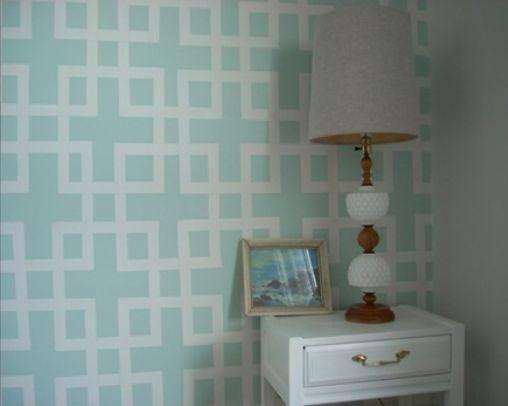 Diy Wall Pattern With Tape And Paint Home Accent Wall