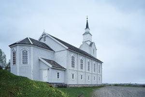 Gildeskål hovedkirke, built in 1881, Norway