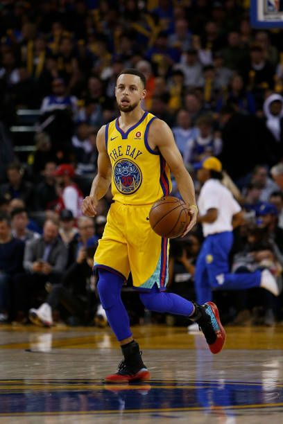 1beb26281808 Stephen Curry of the Golden State Warriors dribbles the ball up court  against the Oklahoma City Thunder at ORACLE Arena on February 24 2018 in.