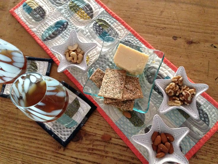 Easy Quilted Coasters + Table Topper Tutorial