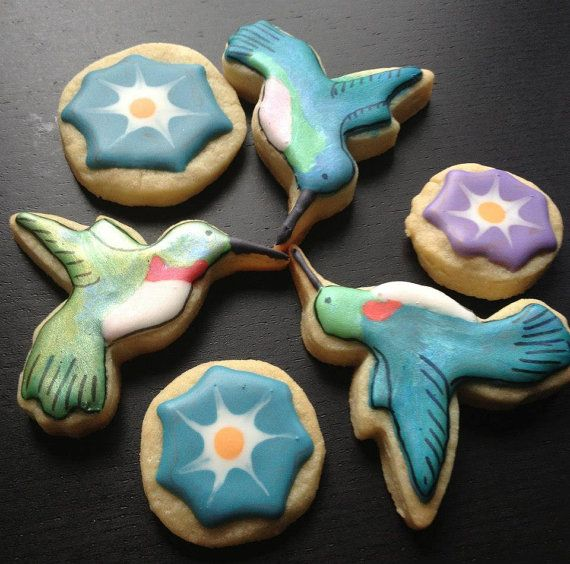 Hummingbird Cookies by SweetWildFlour on Etsy, $30.00