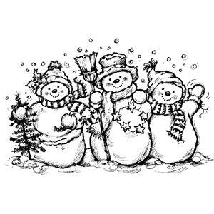 Serendipity Stamps Snowman Trio