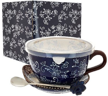 Floral Lace Soup Mug w/Lid-it and  sc 1 st  Pinterest & 152 best H - SOUP CUPS images on Pinterest | Soup mugs Soups and Mugs