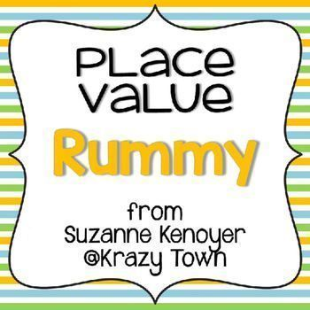 Place Value Rummy This Place Value Rummy game is designed to help students recognize place value. It uses numbers displayed in four ways – place value blocks; groups of hundreds, tens, and ones; expanded form; and plain numeric notation. The numbers range