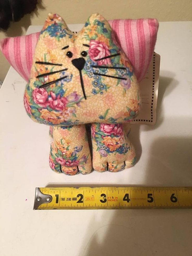 Daisy Kingdom Parlor #Cats Panel One Completed Cat Tags Attached Springs #Springs #dolls