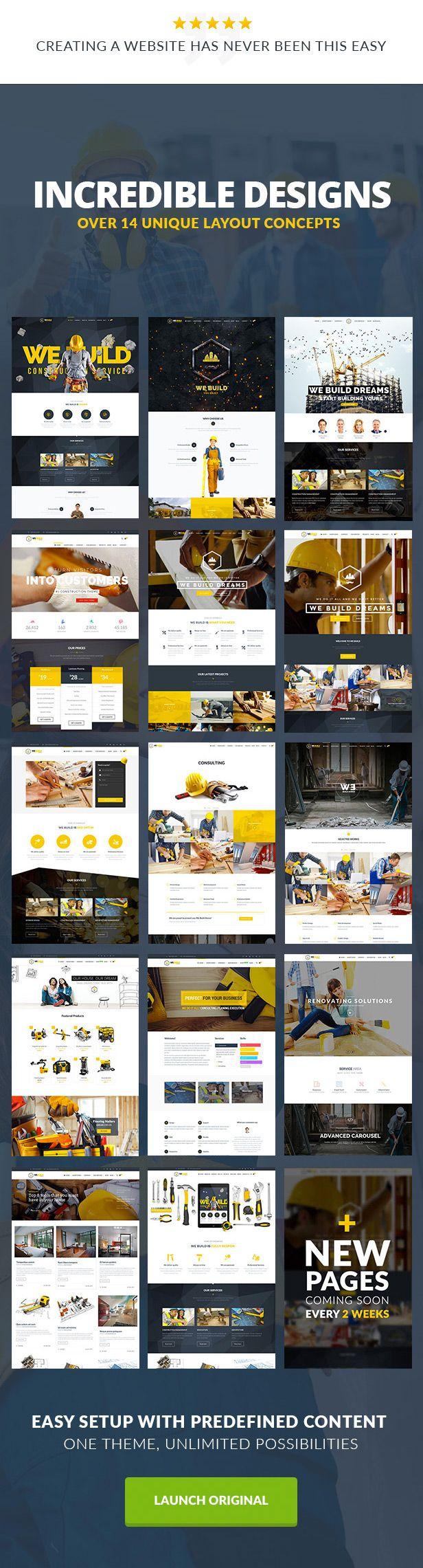 We Build - Construction, Building Shopify Theme on Behance