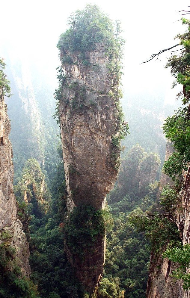 Hallelujah Mountains, China:  Drop-Off, Southern Sky, Real Life, Zhangjiaji National, Forests Parks, Columns, National Parks, Places, National Forests