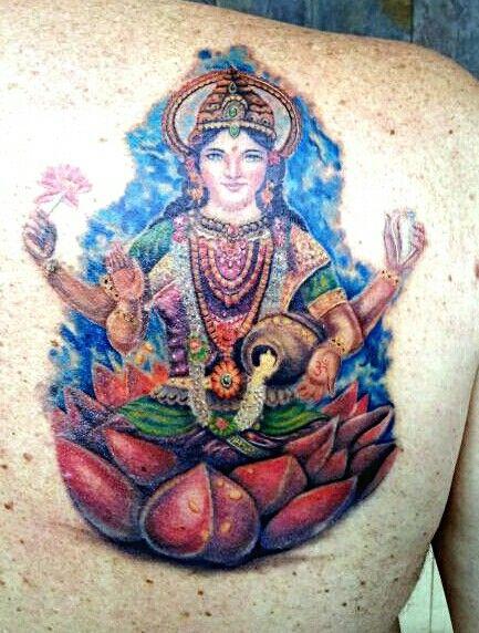 Lakshmi, the Goddess of wealth:)