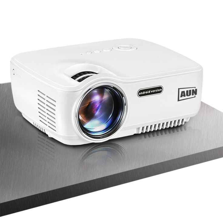 AUN Android Projector AM01S 1400 Lumens Built-in Android, WIFI, Bluetooth, Support Airplay, Miracast Most Cost-Effective LED TV