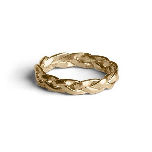 Jane Kønig Mellem fletring - guld - Smykker - Accessories - Mode