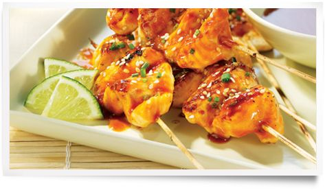 Diana® Sauce,Honey Garlic Salmon Satays:: Recipe