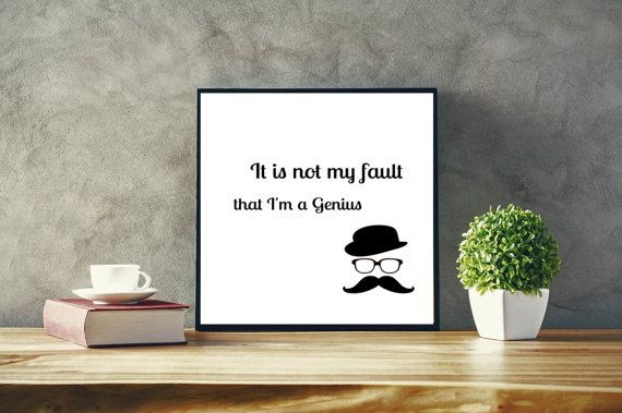 Funny Digital print Is not my fault that by SimpleWordsByRoxana