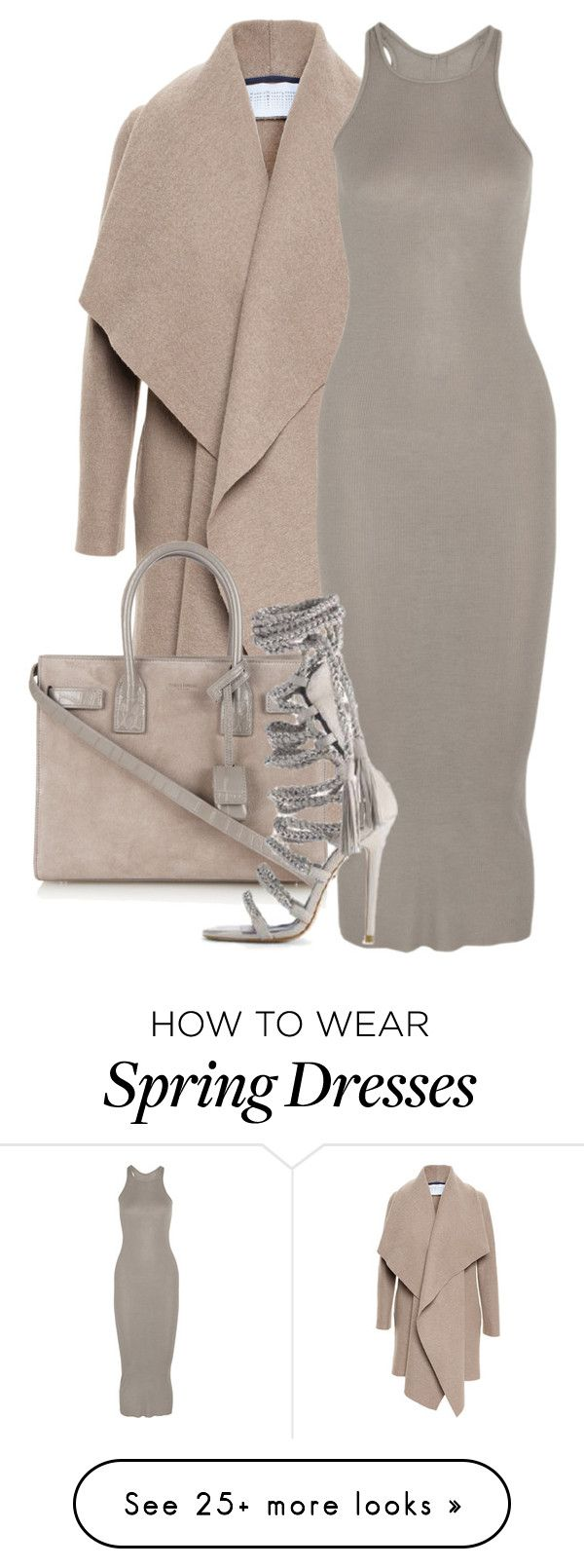 """""""Untitled #137"""" by pariszouzounis on Polyvore featuring Harris Wharf London, Rick Owens, Yves Saint Laurent and Monika Chiang"""