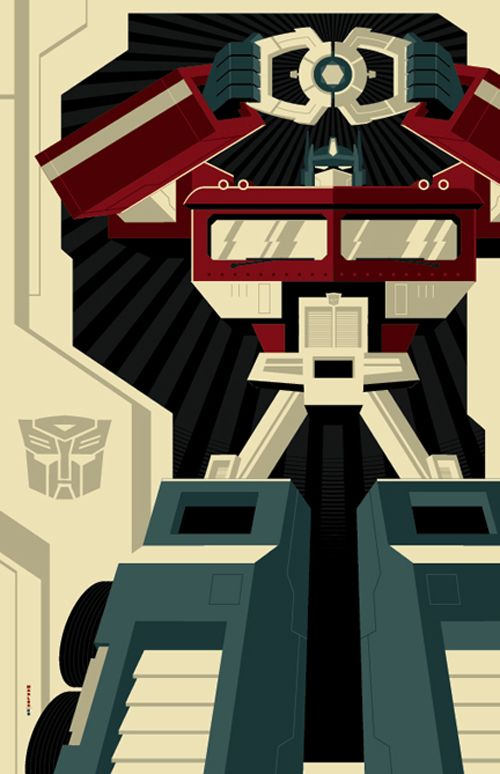 Transformers poster - strong color #Tranformers #Optimus Prime