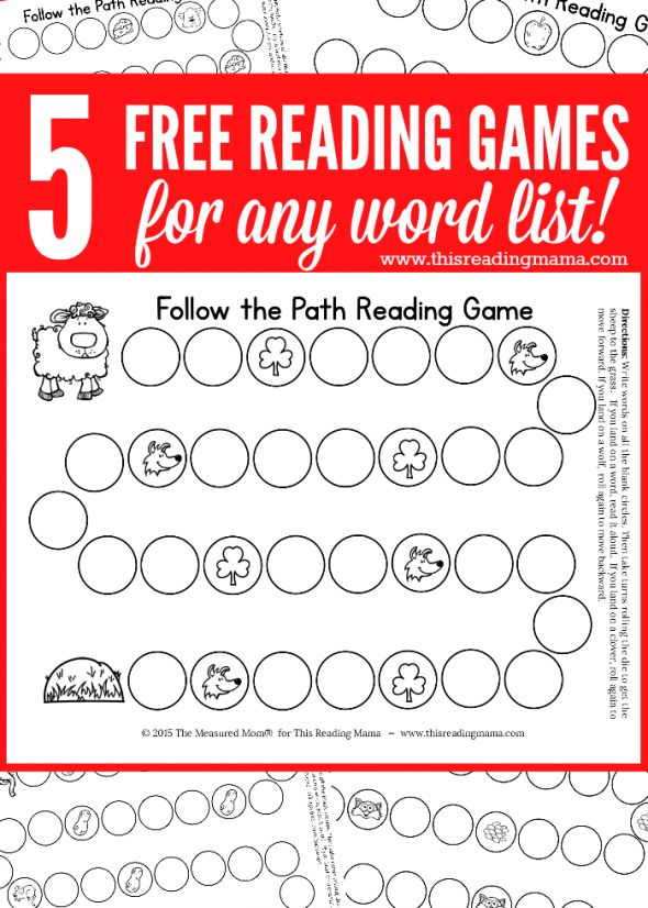 5 FREE Reading Games for ANY Word List | The Measured Mom for This Reading Mama
