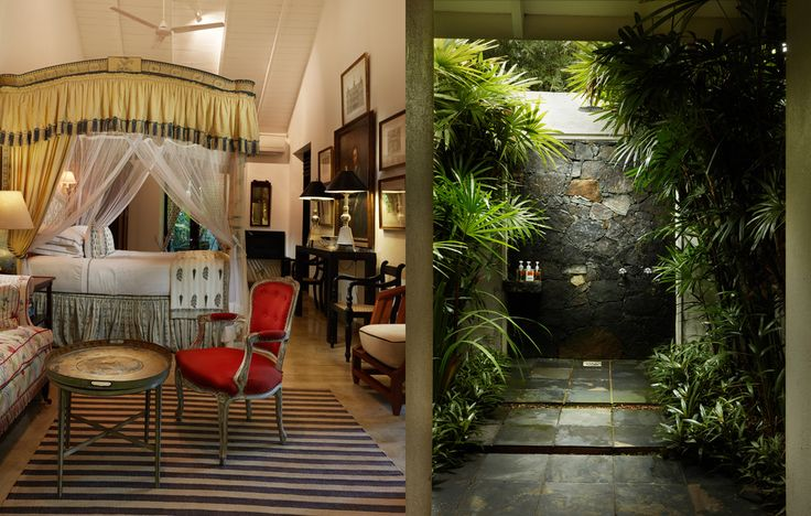 Princess suite, interior photo of room and bathroom. Kahanda Kanda Sri Lanka