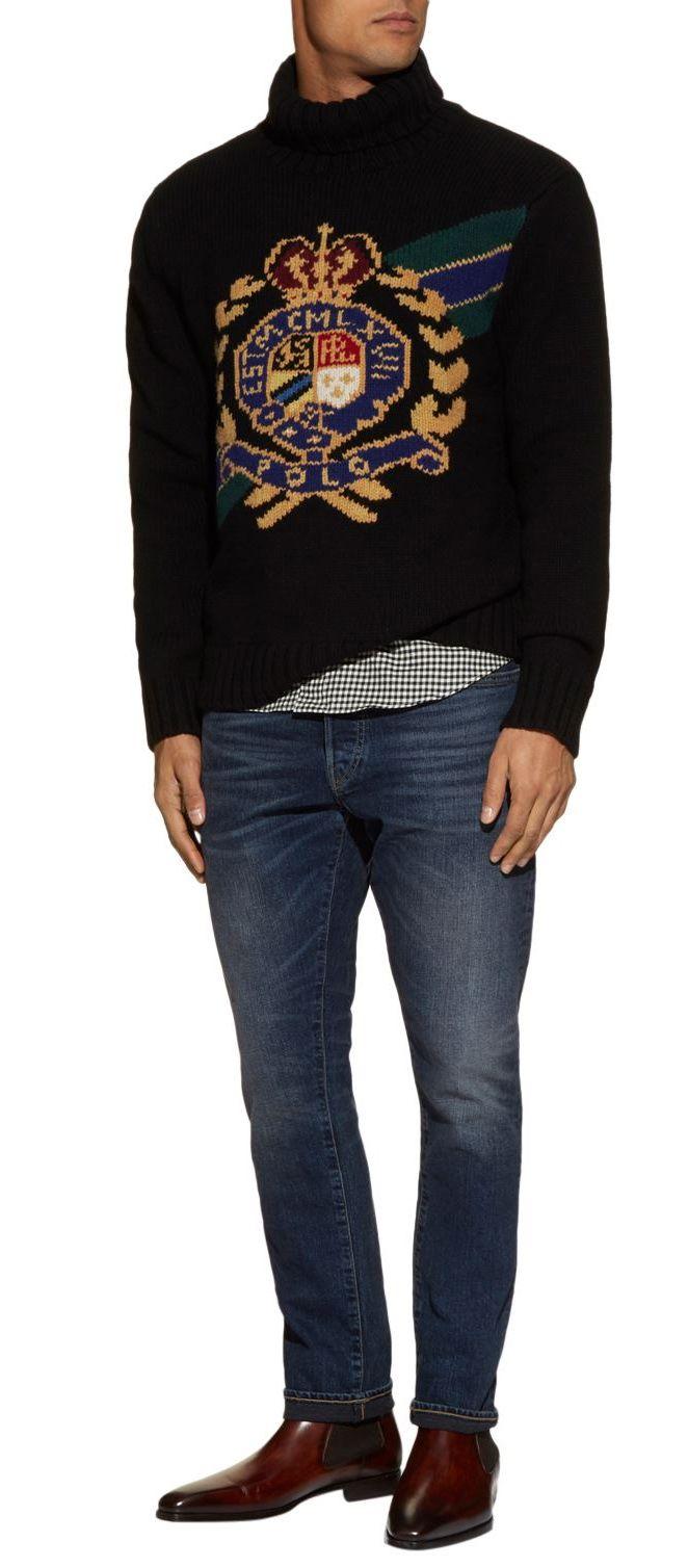 698c2965003 Polo Ralph Lauren Wool Crest Sweater