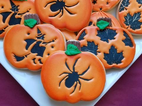 1406 best Fall and Halloween images on Pinterest Halloween cookies - halloween pumpkin cookies decorating