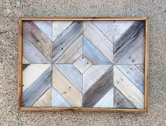 Recuperado arte de pared de madera | paredes blancas | madera de granero | recuperado | arte
