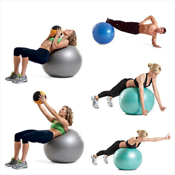 Swiss ball exercises!
