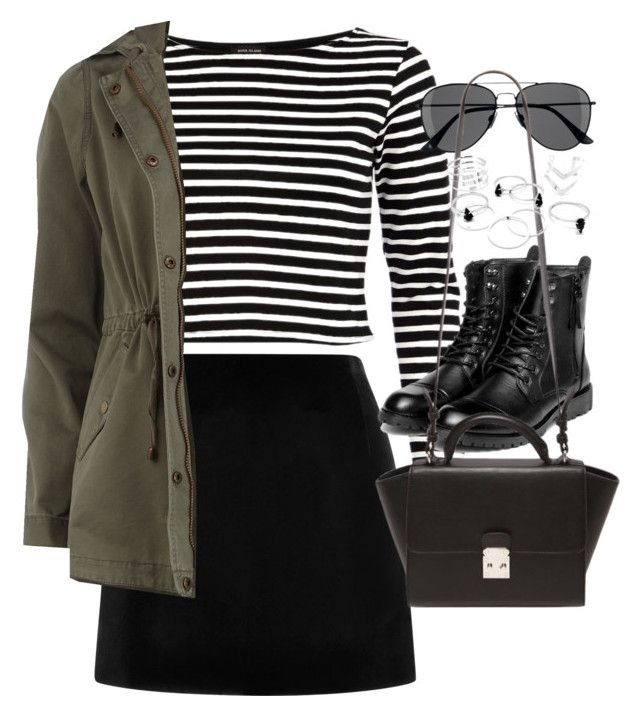 """Outfit with a mini skirt for autumn"" by ferned on Polyvore featuring Marc Jacobs, River Island, H&M, yeswalker, Forever 21 and Dorothy Perkins"
