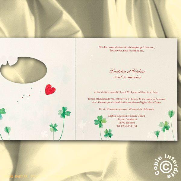 Extrêmement 23 best Invitation au mariage images on Pinterest | Marriage  ZR77