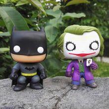 Funko Pop The Joker Batman DC Justice League Heroes PVC Action Figure Collectible Kids Model Toy 10cm(China (Mainland))