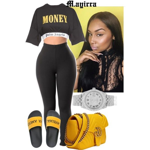 Untitled #370 by mayiralove on Polyvore featuring polyvore, fashion, style, Palm Angels, Gucci, Rolex and clothing