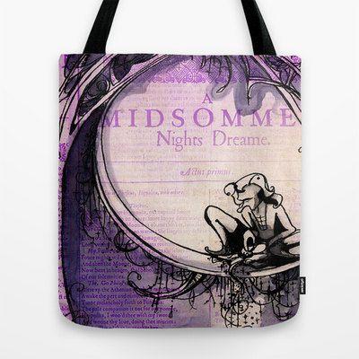 Shakespeare Tote Bag- Canvas Shopping Bag - Hamlet, Ophelia, Midsummer, Macbeth, Much Ado