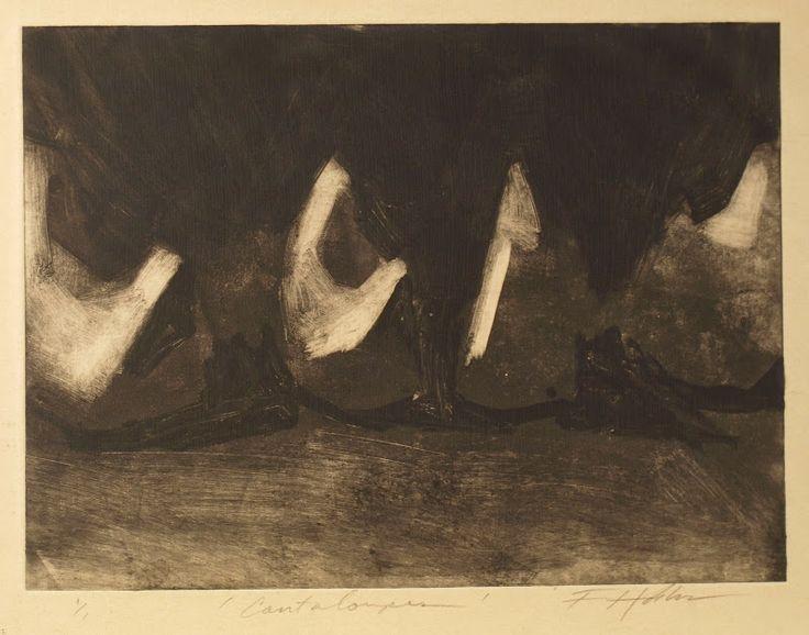 Frank Hobbs: Cantaloupes, monotype, 12 x 15 in.