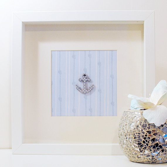 Nautical Framed Art Print  Anchor Wall Art by Onetenzeroseven